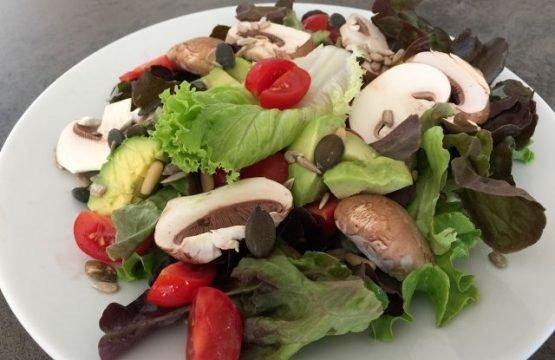 Pilz-Rezept: Veganer Fitness-Salat