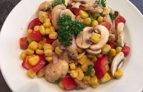 Pilz-Rezept: Mais-Paprika-Salat