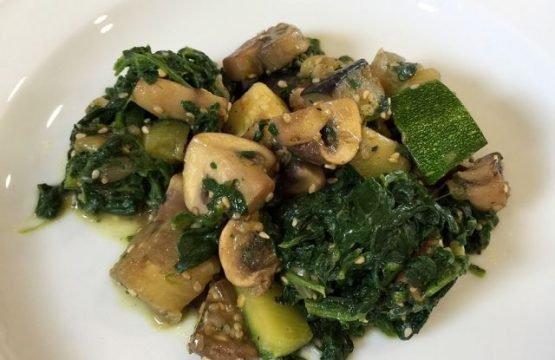 Pilz-Rezept: Champignon-Gemüsepfanne
