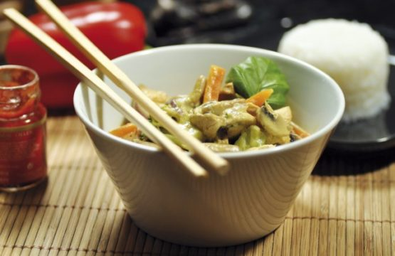 Pilz-Rezept: Curry-Huhn-Champignon