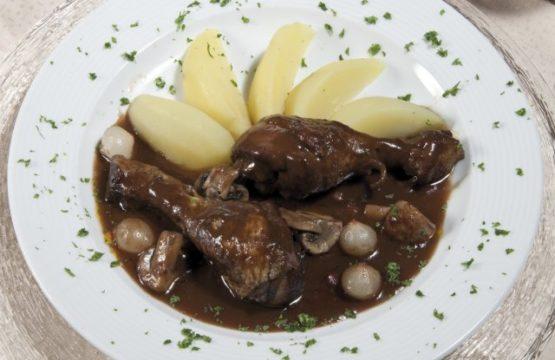 Pilz-Rezept: Coq-au-Vin mit Champignons