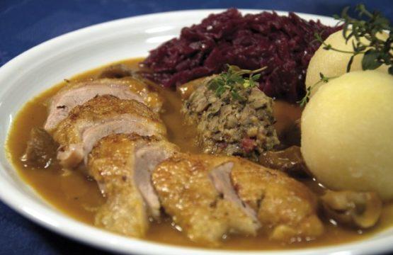 Pilz-Rezept: Ente mit Pilzfüllung