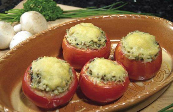 Pilz-Rezepte: Mit Champignons gefüllte Tomaten