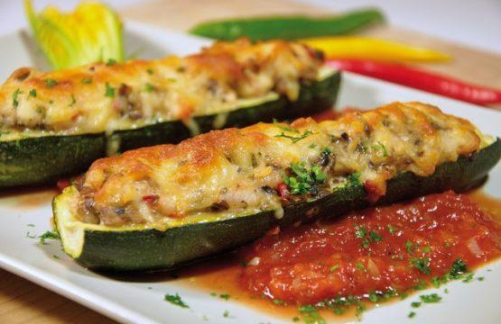 Pilz-Rezept: Gefüllte Zucchini