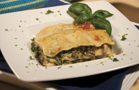 Pilz-Rezept: Pilz-Spinat-Lasagne