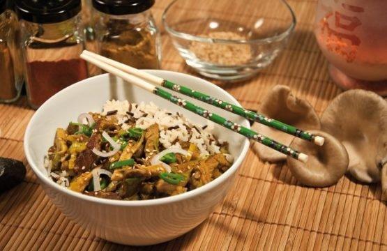Pilz-Rezept: Rindfleischpfanne süß-sauer