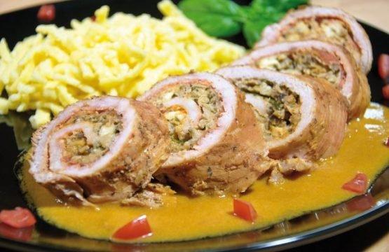 Pilz-Rezept: Roulade vom Schwein – gefüllt mit Pilzen und Feta