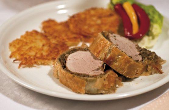 Pilz-Rezept: Schweinelende im Blätterteig mit Duxelles-Masse