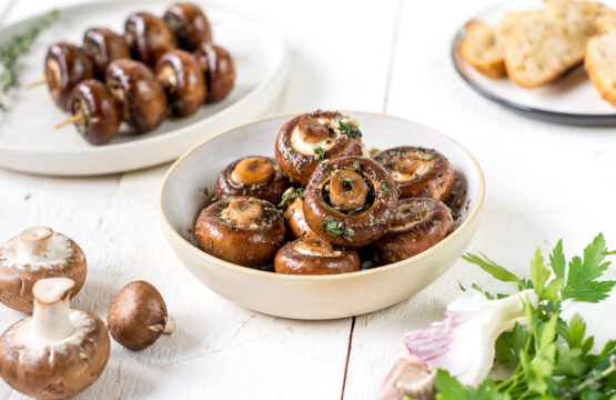 Corinnas marinierte Champignon-Spieße vom Grill